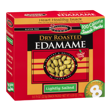 Seapoint Farms Dry Roasted Edamame Lightly Salted Snack Packs - 8 CT