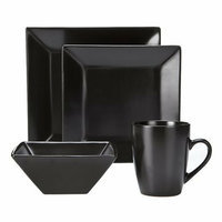 Savinio Designs Harmony 16-pc. Dinnerware Set - Black