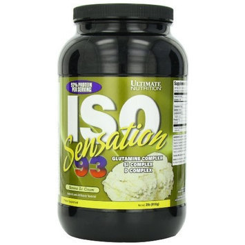 Ultimate Nutrition Iso Sensation 93 Mineral Supplement, Banana Ice Cream, 2 Pound