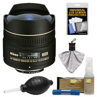 Nikon 10.5mm f/2.8G ED DX AF Fisheye-Nikkor Lens with Cleaning & Accessory Kit for D3100, D3200, D3300, D5100, D5200, D5300, D7000, D7100 DSLR Cameras
