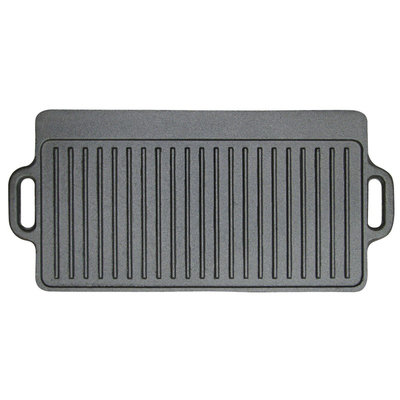 Stansport 9x20 Cast Iron Griddle, Black
