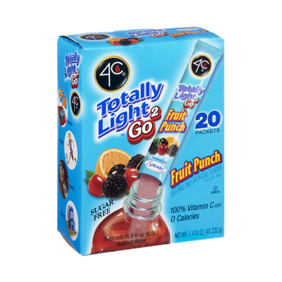 4C Totally Light 2Go Sugar Free Fruit Punch Drink Mix - 20 CT