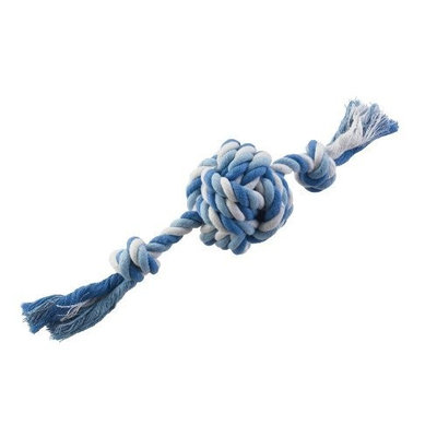 Ethical Pet Mega Twister Heavy Rope Knot Ball 15-Inch Dog Toy