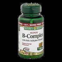 Nature's Bounty Vitamin Tablets Super B-Complex with Folic Acid plus Vitamin C and Biotin - 150 CT
