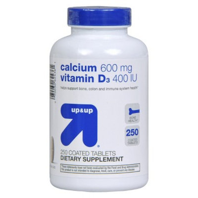 up & up up&up Calcium 600 mg and Vitamin D 400 iu Tablets - 250 Count