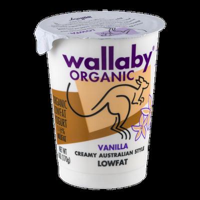 Wallaby Organic Lowfat Yogurt Vanilla