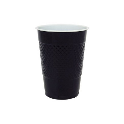 Hanna K Signature Hanna K. Signature 81060 16 Oz. Black Plastic Cup - 600 Per Case