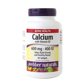 Webber Naturals Calcium 600mg with Vitamin D 400IU, Softgels, 90 ea