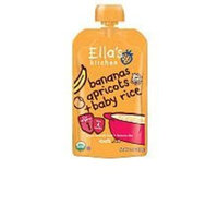 Ellas Kitchen Organic Baby Food - Banana Apricot & Baby Rice 6-Pack Ella's Kitchen 6 x 3.5 oz