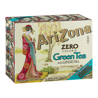 AriZona Zero Calorie Green Tea with Ginseng