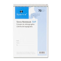 Sparco Steno Notebook, Gregg Ruled, 70 Sheets, 6 x 9 Inches, Green (SPRG69)