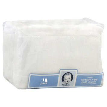 Gerber Childrenswear Inc Gerber Prefold with Absorbent Padding, 10 diapers
