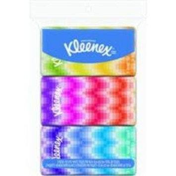 Kimberly Clark Kleenex Go Pack Facial Tissue (Pack of 3)