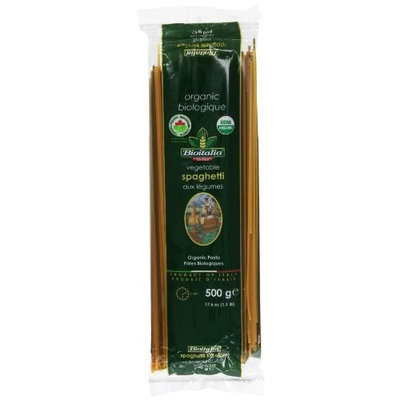 Bioitalia Tricolor Vegetable Pasta, Spaghetti, 17.6 Ounce (Pack of 20)