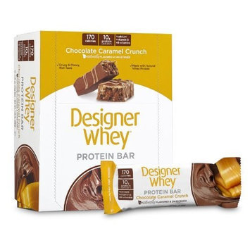 Designer Whey Crunch Protein Bar, Peanut Butter Crunch,1.41 Oz. Bar 12 Count
