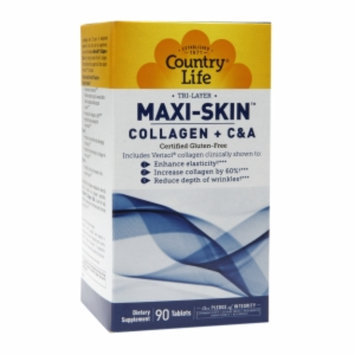 Country Life MAXI-SKIN Collagen + C & A 90 Tablets