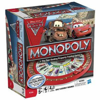 Hasbro Monopoly - Cars 2 Race Track Game, Ages 5+, 1 ea