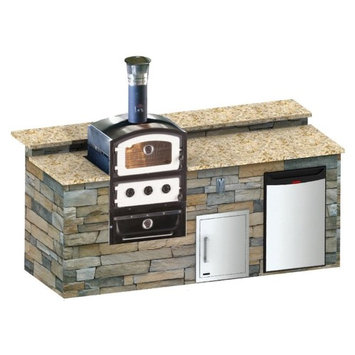 Alfresco Home Llc Fornetto Alto Wood Fired Built-In Pizza Oven & Smoker