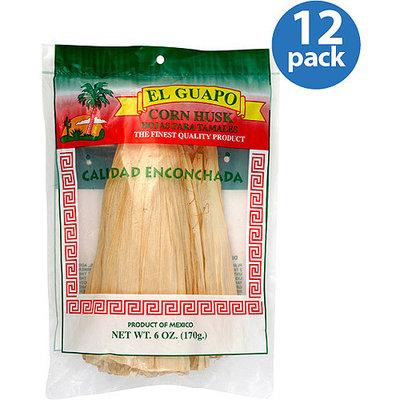 El Guapo Corn Husks, 6 oz, (Pack of 12)