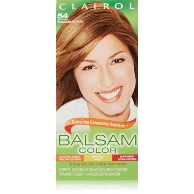 Clairol Balsam Hair Color 54 Light Golden Brown 1 Kit (Pack of 3)