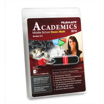 Wintec FileMate Academics Middle School Basic Math 2010 2GB USB Drive Educational Software