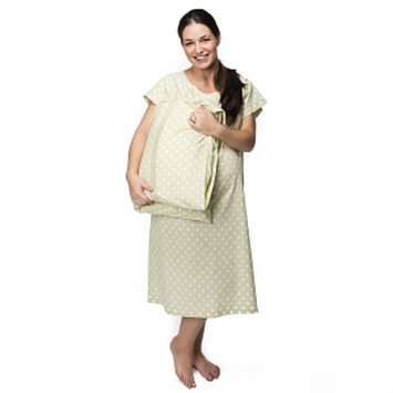 Baby Be Mine Charlotte Gownie Hospital Gown with Pillowcase, S/M, 1 ea