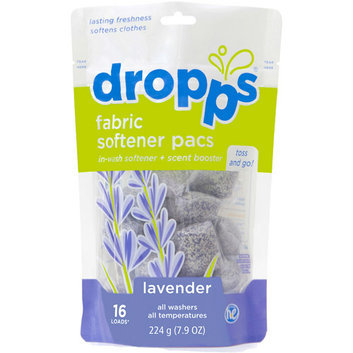 Dropps Scent Booster Pacs with In-Wash Fabric Softener, Lavender