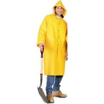 Trademark Size 2-X Yellow 2 Piece PVC Durable Heavy Duty Raincoat