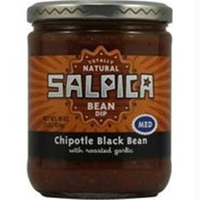 Salpica B36609 Fronterasalpica Bean Medium Chipotle Black Bean Dip -6x16oz