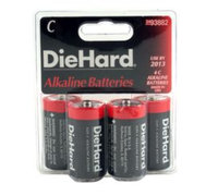 Eveready Battery Company DieHard C Alkaline Batteries, 4pk - EVEREADY BATTERY COMPANY