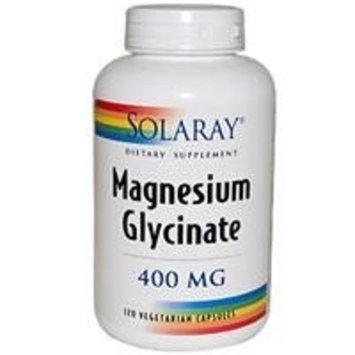 Solaray Magnesium Glycinate Supplement, 400 mg, 120 Count