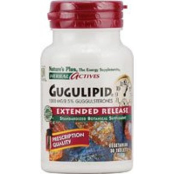 Gugulipid 1000 mg Extended Release Tablets Nature's Plus 30 Sustained Release Ta