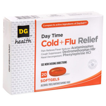 DG Health Daytime Cold and Flu Relief Softgels - 20 ct