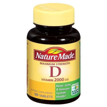 Nature Made Vitamin D 2000IU, 90 Tablets (Pack of 3)