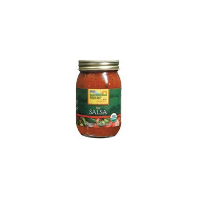 Field Day 100% Organic Hot Salsa 16 oz. (Pack of 12)
