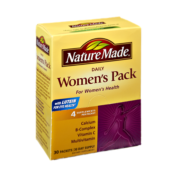Nature Made Daily Women's Pack Multivitamin with Lutein Dietary Supplement Packets - 30 CT