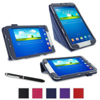 rooCASE Samsung Galaxy Tab 3 8.0 Case - Origami Stand Tablet Case - NAVY (With Auto Wake / Sleep Cover)