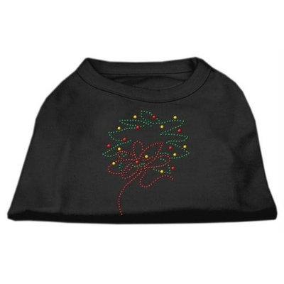Mirage Pet Products 522515 LGBK Christmas Wreath Rhinestone Shirt Black L 14