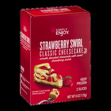Simply Enjoy Strawberry Swirl Classic Cheesecake - 2 CT