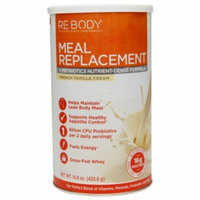 Re-Body Meal Replacement + Probiotics Nutrient-Defense Formula, French Vanilla Cream, 14.8 oz