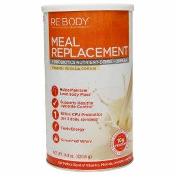 Re-Body Meal Replacement + Probiotics Nutrient-Defense Formula, French Vanilla Cream, 14.8 oz