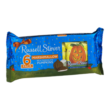 Russell Stover Marshmallow Milk Chocolate Pumpkins - 6 CT