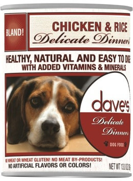 Dave's Pet Food Dave's Delicate Dinners Chicken And Rice Canned Dog Food