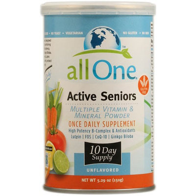 All One Nutritech Active Seniors Multiple Vitamin and Mineral Powder Unflavored 5.29 oz