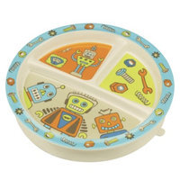 SugarBooger Divided Suction Plate - Retro Robot