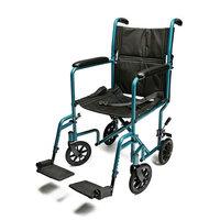 Everest & Jennings Aluminum Transport Chair 17 inch Aqua