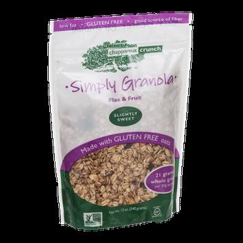 Chappaqua Crunch Simply Granola Flax & Fruit