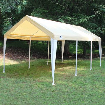 King Canopy Canopy. 10 ft. W X 20 ft. D Event Tent in Tan/White Cover
