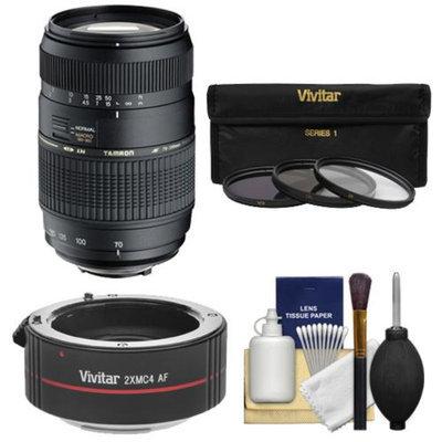 Tamron 70-300mm f/4-5.6 Di LD Macro 1:2 Zoom Lens with Built-in Motor + 3 UV/CPL/ND8 Filters + 2x Teleconverter Kit for Nikon D3200, D3300, D5200, D5300, D7000, D7100 Digital SLR Cameras