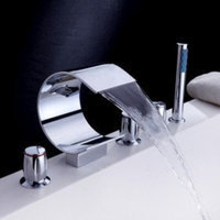 Arthx Waterfall Tub Faucet with Hand Shower (Curved Shape Design)